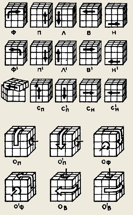 Нужный кубик опускается вниз